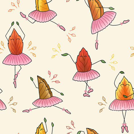 Dancing Leaves fabric by moonpuff on Spoonflower - custom fabric