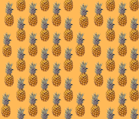 Summer Pinapples fabric by veata_atticus_store on Spoonflower - custom fabric