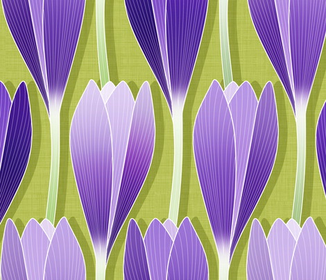 Saffron Garden fabric by spellstone on Spoonflower - custom fabric