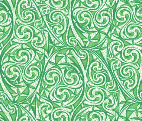 Celtic Warlord Greenface fabric by spellstone on Spoonflower - custom fabric