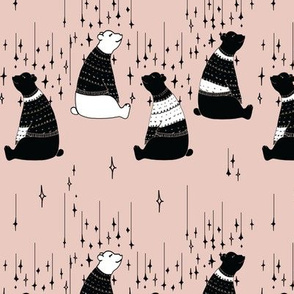 Winter bears on Pink