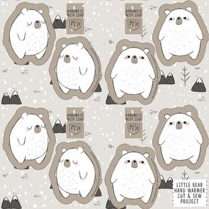 Little Polar Bear Hand Warmer Cut & Sew Project