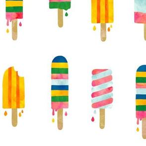 summer watercolor popsicles (more space)