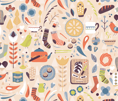 Gettin Hygge With It fabric by abbyhersey on Spoonflower - custom fabric
