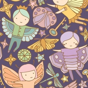 Night Fairies and Sky Jewels {Pastel Purple} - large scale