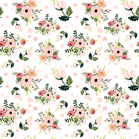 "4"" PETITE BOUQUET fabric by shopcabin on Spoonflower - custom fabric"