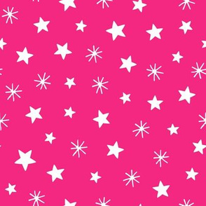 Angels playful stars pink