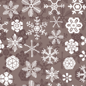 Red and white snowflake pattern