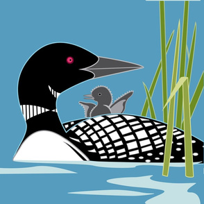"Loon panel, 18"" square"