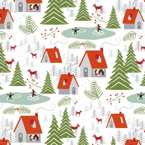 cozy holiday fabric by lynnbishopdesign on Spoonflower - custom fabric