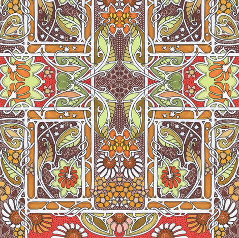Harvest Time Under a Chocolate Sky fabric by edsel2084 on Spoonflower - custom fabric