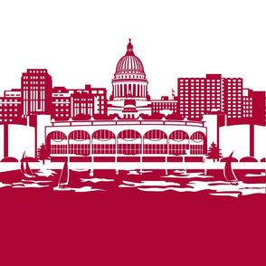 Madison panel, red
