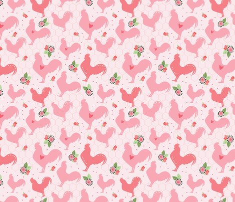 Farm Fresh Chickens fabric by julie_nutting on Spoonflower - custom fabric