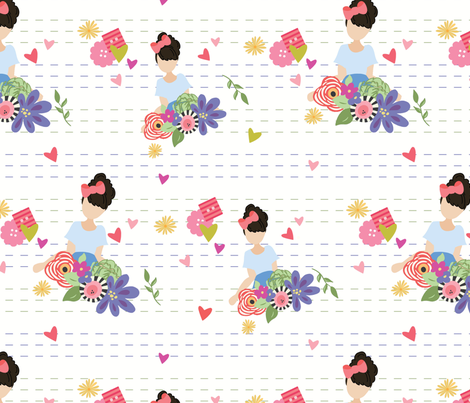 Farm Fresh Girl fabric by julie_nutting on Spoonflower - custom fabric