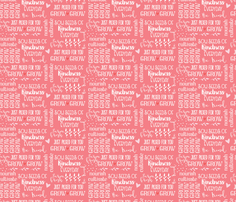 Grow Pink fabric by julie_nutting on Spoonflower - custom fabric