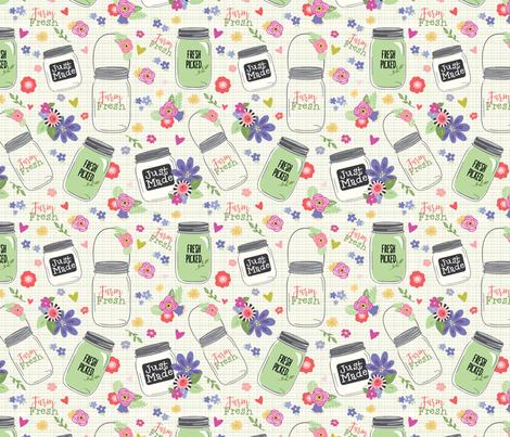 Farm Fresh Jars fabric by julie_nutting on Spoonflower - custom fabric