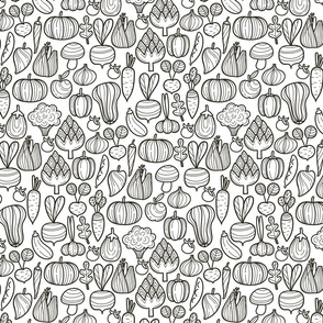 Farm_vegetables_BW_pattern