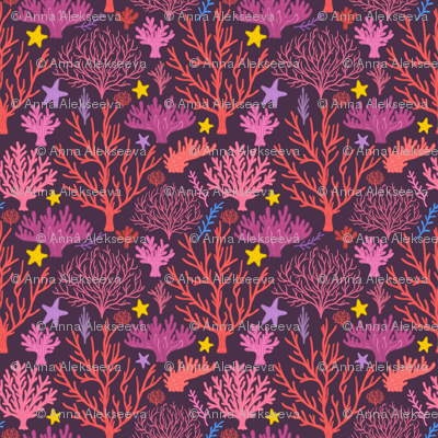 coral reef pattern 2. under the sea.