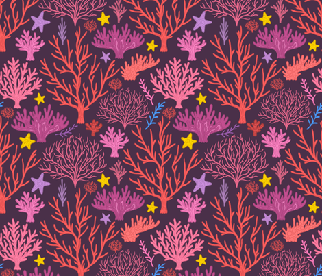 coral reef pattern 2. under the sea. fabric by kostolom3000 on Spoonflower - custom fabric