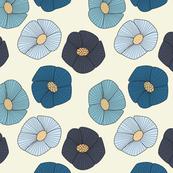 Blue Geo Flowers