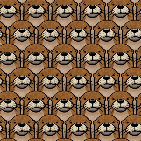 otters fabric by littlearrowdesign on Spoonflower - custom fabric