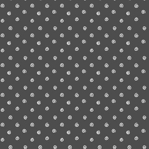 Whimsical Dot Black White