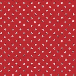 Whimsical Red White Dot