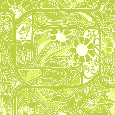Parrot Jungle fabric by edsel2084 on Spoonflower - custom fabric