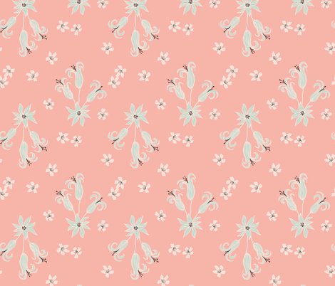 Delicate Floral fabric by scarlette_soleil on Spoonflower - custom fabric