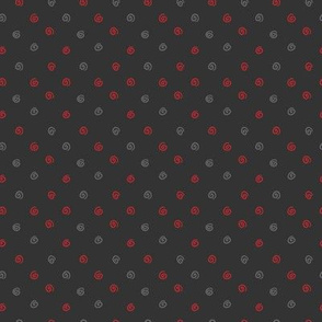 Whimsical Dots Multi Black