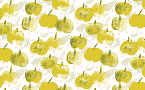 Apple Pick M+M Apple by Friztin fabric by friztin on Spoonflower - custom fabric