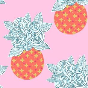 Flower Vase on Pink