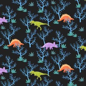 Large Dinosaurs on Slate