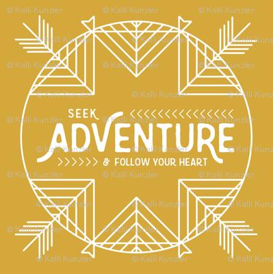 Seek Adventure Lovey - Mustard - 18 inch