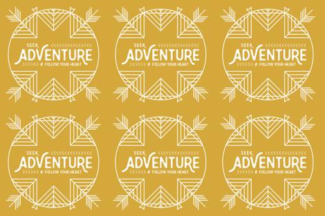 Seek Adventure Lovey - Mustard - 18 inch fabric by sweeterthanhoney on Spoonflower - custom fabric