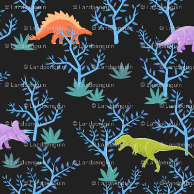Small Dinosaurs on Slate