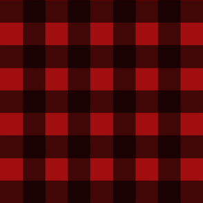 "2"" Red Buffalo Plaid"