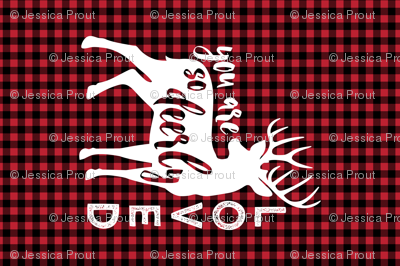 MINKY layout - You are so deerly loved - buffalo plaid