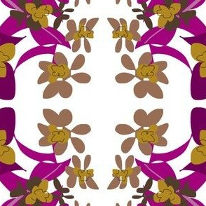 Purple Gold Garland