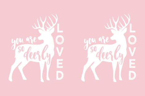 """27"""" layout - You are so deerly loved - C8 fabric by littlearrowdesign on Spoonflower - custom fabric"""