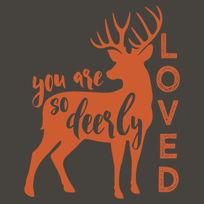 "27"" layout - You are so deerly loved - C1"