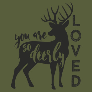 "27"" layout - You are so deerly loved - C2"