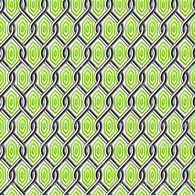 Chain Link Diamonds Green