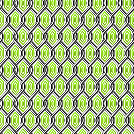 Chain Link Diamonds Green fabric by stradling_designs on Spoonflower - custom fabric