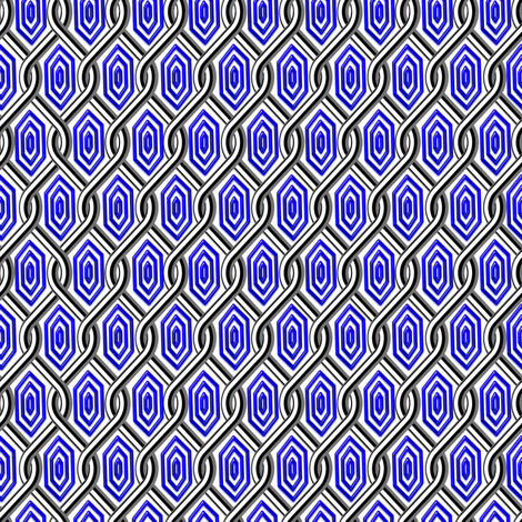 Chain Link Diamonds Dark Purple fabric by stradling_designs on Spoonflower - custom fabric