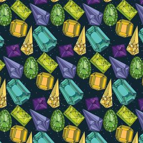 Night Gemstones - medium scale