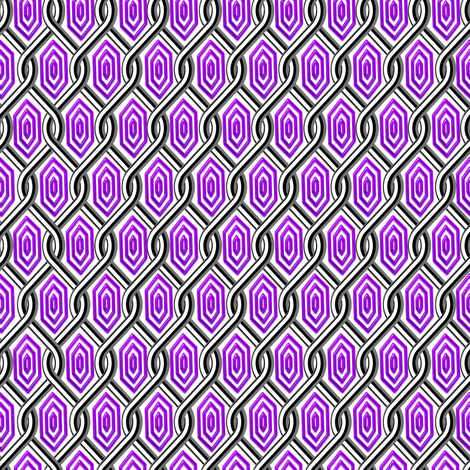 Chain Link Diamonds Purple fabric by stradling_designs on Spoonflower - custom fabric
