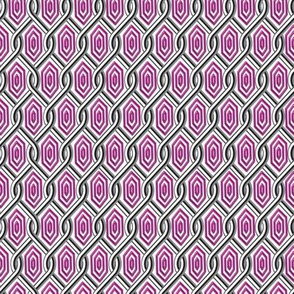 Chain Link Diamonds Purple