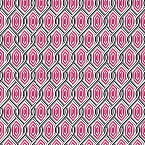 Chain Link Diamonds Pink