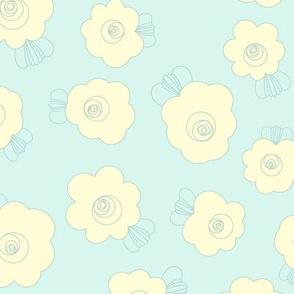 Fluffy Flowers-Blue